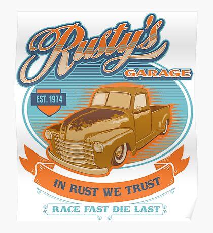RUSTY GARAGE Poster