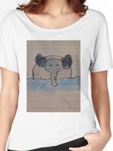 Swimming Elephant Women's Relaxed Fit T-Shirt