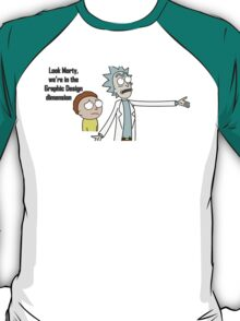 Rick and Morty - Graphic Design dimension T-Shirt