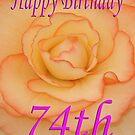 Happy 74th Birthday Flower by martinspixs