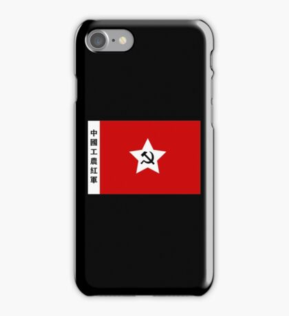 China, Chinese, Old China, Communism, Chinese Workers & Peasants, Red Army Flag, Communist iPhone Case/Skin