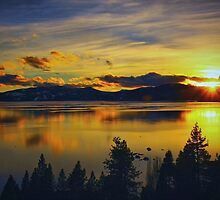 A Tahoe Sunset by Barbara  Brown