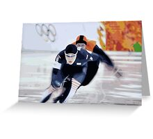 Skaters 2 Greeting Card