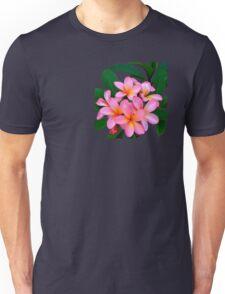 Pink Frangipani Flowers Photograph Unisex T-Shirt