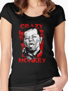 Jun Kasai - Crazy Monkey Women's Fitted Scoop T-Shirt
