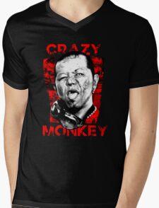Jun Kasai - Crazy Monkey Mens V-Neck T-Shirt