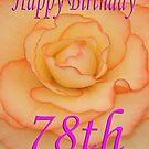 Happy 78th Birthday Flower by martinspixs