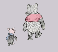 Pooh and Piglet Be My Friend Sticker