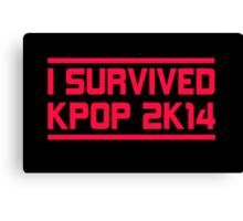 I SURVIVED KPOP 2K14 - BLACK Canvas Print