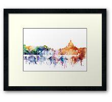 Rome skyline Framed Print