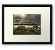 Dawn  at Fleetwood. Framed Print