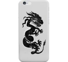 Black Dragon White Style iPhone Case/Skin