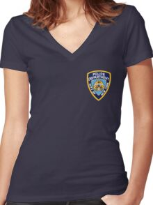 NYPD Women's Fitted V-Neck T-Shirt