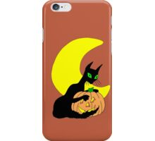 Black Cat Crescent Moon iPhone Case/Skin