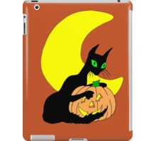 Black Cat Crescent Moon iPad Case/Skin