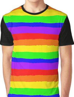 Hand Drawn Rainbow Pattern Graphic T-Shirt