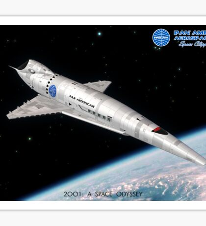 2001 A Space Odyssey Space Clipper Orion poster Sticker