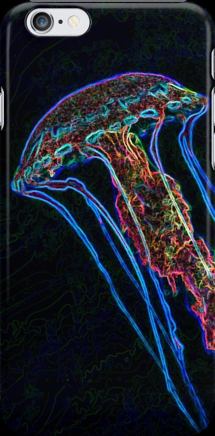 Electric jellyfish-iPhone by Celeste Mookherjee