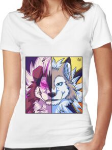 Lycanroc Women's Fitted V-Neck T-Shirt