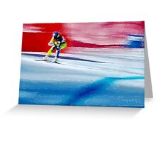 Giants Slalom  Greeting Card