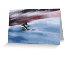 Giants Slalom 4 Greeting Card