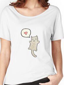 funny cartoon cat Women's Relaxed Fit T-Shirt