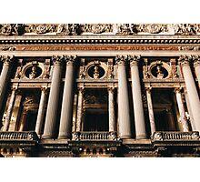 The Opera Garnier House in Paris at Night Photographic Print