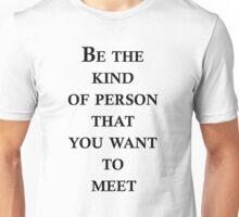 Kind of person(black) Unisex T-Shirt