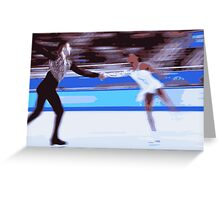Figure Skaters 4 Greeting Card