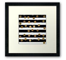 Golden Dotty Stripe Framed Print