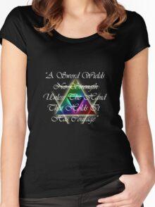 Legend of Zelda, Courage Women's Fitted Scoop T-Shirt