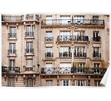 Traditional French Architecture Poster