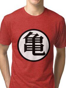 Kanji Kame Turtle - Dragon Ball / DBZ Tri-blend T-Shirt