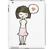 cartoon woman in love iPad Case/Skin