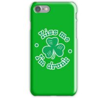 Kiss me I'm drunk iPhone Case/Skin