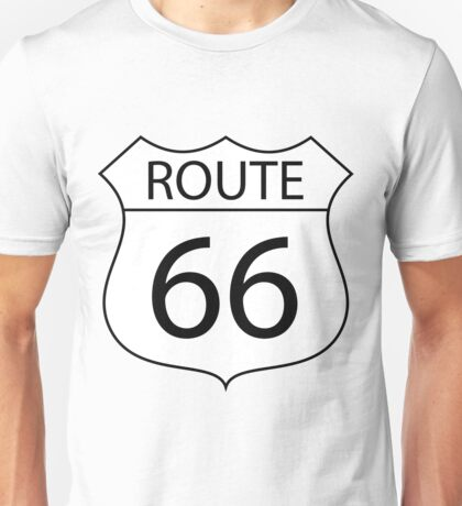 Route 66 Road Sign Unisex T-Shirt