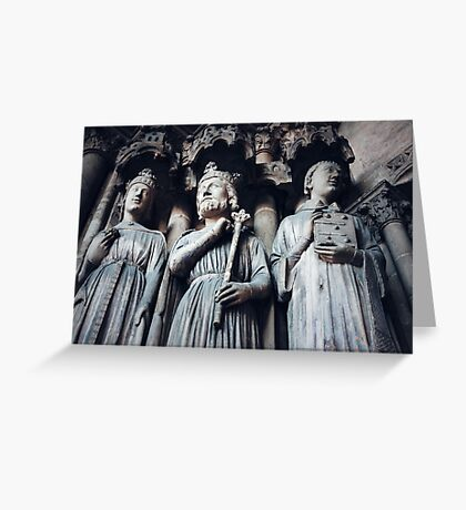 Gothic Background with Ancient Kings  Greeting Card
