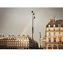 Paris Street View with Rainbow Photographic Print