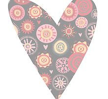 Sweet pattern pink gray by DeAssuncaoCreat