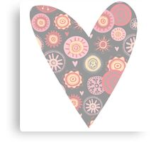 Sweet pattern pink gray Canvas Print
