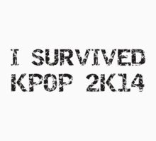 I SURVIVED KPOP 2K14 ROUGH - RED Kids Clothes