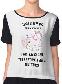 I am a unicorn Chiffon Top