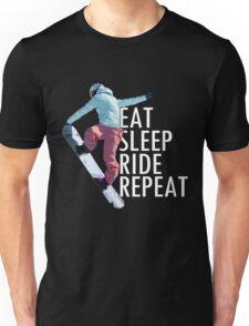 Eat Sleep Ride Repeat Snowboard T-Shirt Unisex T-Shirt