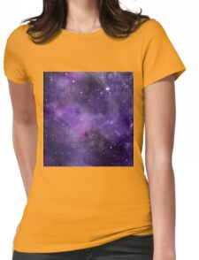 Amethyst watercolor galaxy  Womens Fitted T-Shirt