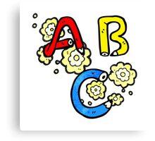 cartoon ABC letters Canvas Print