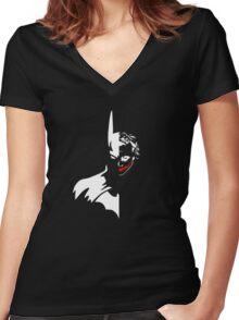 Batman/Joker Women's Fitted V-Neck T-Shirt