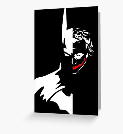 Batman/Joker Greeting Card