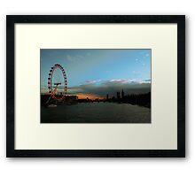 London Eye, Thames, Big Ben Framed Print