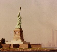 Statue of Liberty With the Twin Towers by Melnsbrooke