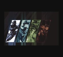 MGS Four Snakes by mildlywarmhug